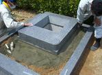納骨棺、芝台設置